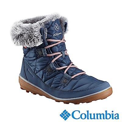 Columbia哥倫比亞 女款-Omni-Tech 防水鋁點保暖雪靴-丹寧藍