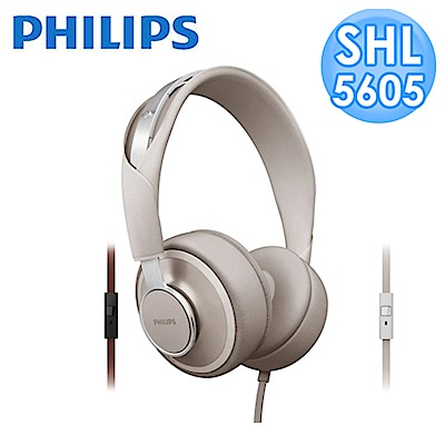 【福利品】PHILIPS Foldie SHL5605頭戴式耳機(灰白色)