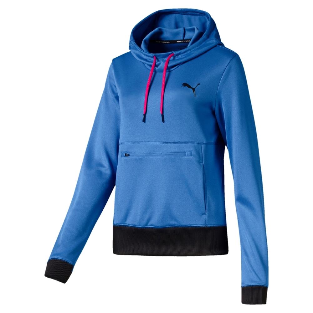 PUMA-女性訓練系列Shift長厚連帽T恤-亮片藍-歐規