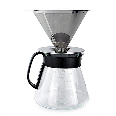生活King 手沖式不袗咖啡組600ml(2-4杯)