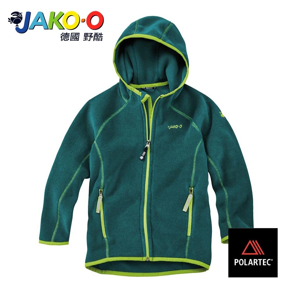JAKO-O德國野酷-POLARTEC連帽外套-深綠  保暖 耐寒