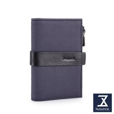 74盎司  Mix 配皮卡片零錢夾[N-585-MI-M]藍
