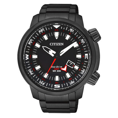 CITIZEN Eco-Drive雙層霸氣日期顯示手錶(BJ7086-57E)-46mm