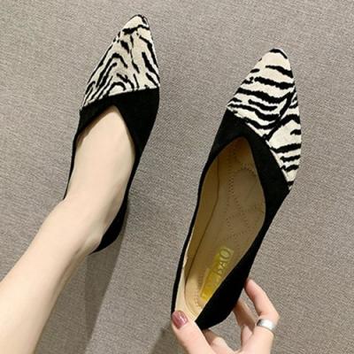 KEITH-WILL時尚鞋館 賣瘋了輕甜動物紋平底鞋-黑色豹紋