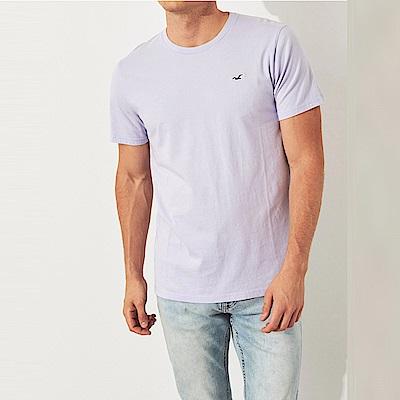 海鷗 Hollister HCO 經典刺繡標誌圓領素面短袖T恤-粉紫色