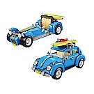 LOZ mini 鑽石積木-1114 藍色汽車