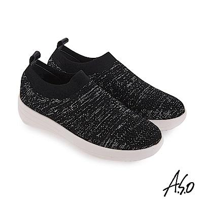 A.S.O 輕量抗震 雅緻輕盈休閒鞋 黑
