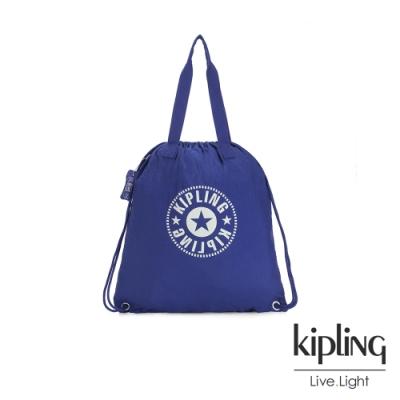 Kipling 城市探索地圖印花束口手提後背包-DRAWPACK