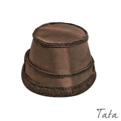 拼接絨毛漁夫帽 共二色 TATA