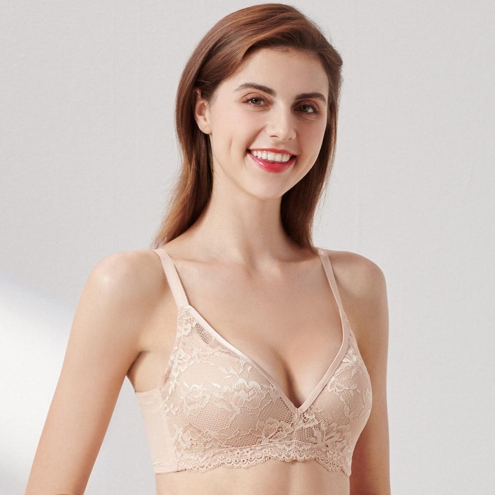 黛安芬-自然優雅系列無鋼圈美型 D-E罩杯內衣 美肌裸