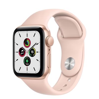 Apple Watch SE (GPS) 40mm 金色鋁金屬錶殼+粉色錶帶(MYDN2TA/A)