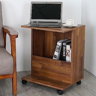 Homelike 琥恩多功能移動邊桌(二色)-48x40x60cm