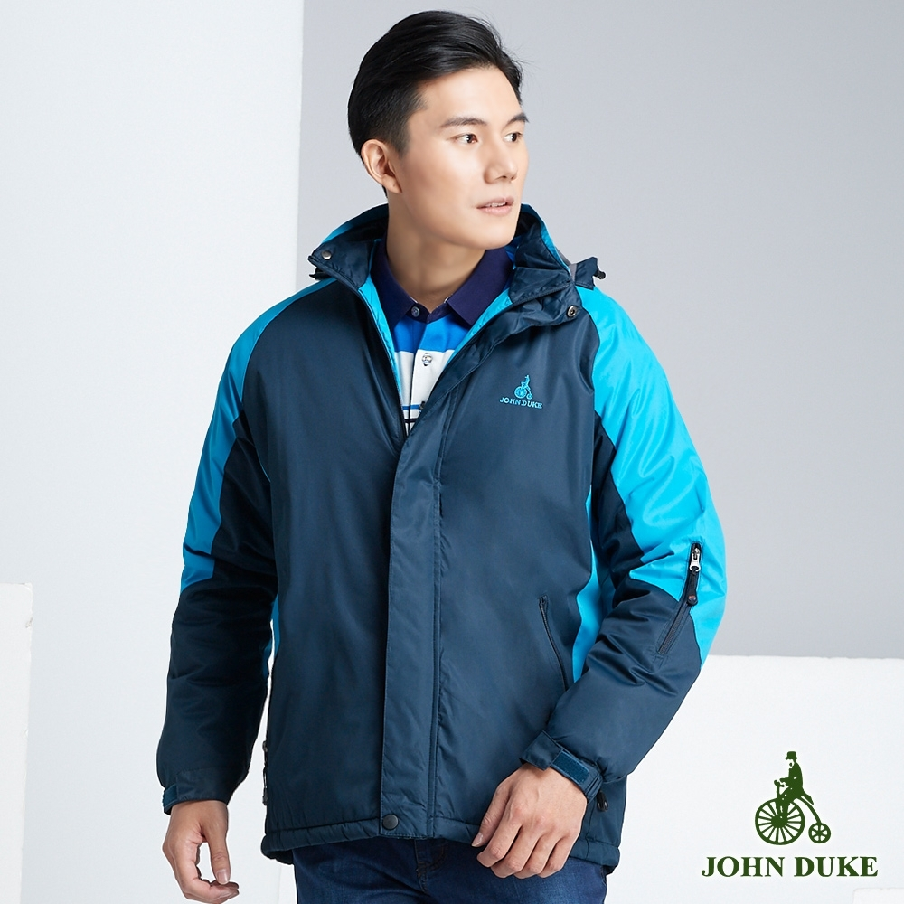 JOHN DUKE 約翰公爵時尚經典鋪棉外套_丈青/藍(32-8K5275)