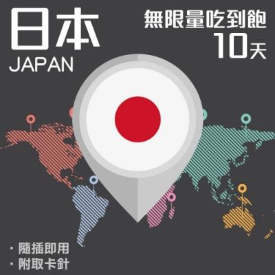 【PEKO】日本上網卡 10日高速4G上網 無限量吃到飽 優良品質高評價