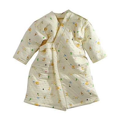 三層棉純棉護手長睡袍 黃 b0095 魔法Baby
