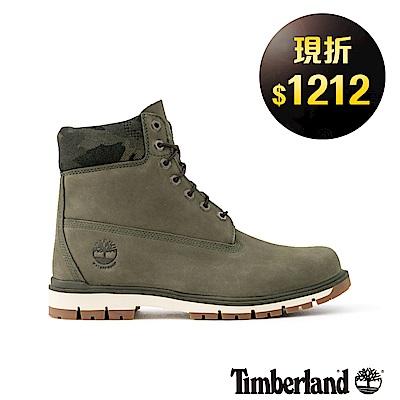 Timberland男款深綠色正絨面皮革Radford 6吋靴|A1UNN
