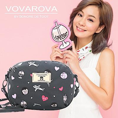 VOVAROVA x 莎莎-圓鼓鼓側背包-福爾摩莎-環遊世界系列