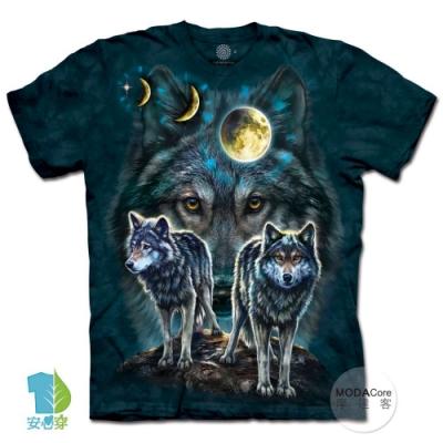 摩達客-美國進口The Mountain 北極星狼群 純棉環保中性短袖T恤