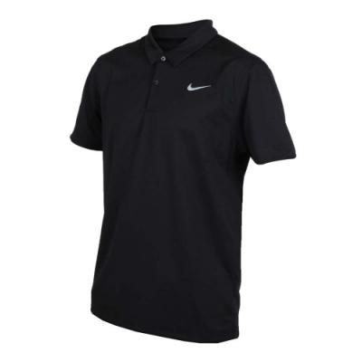 NIKE GOLF GOLF 男針織短袖POLO衫-短袖上衣 高爾夫 慢跑 黑灰
