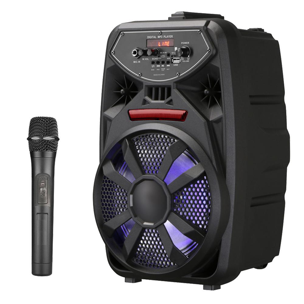 大聲公歡樂型無線麥克風多功能行動音箱/喇叭 (單手持麥克風組)