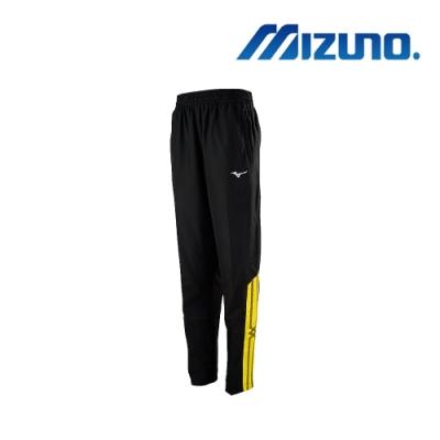 Mizuno美津濃 男平織運動長褲 黑x黃 32TD958594
