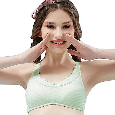 思薇爾 小冰冰純真風系列A-B罩無鋼圈背心型包覆內衣(輕綠色)