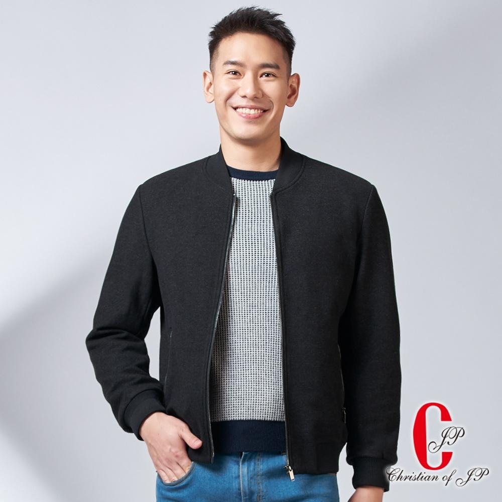 Christian 簡約設計抓絨舒適外套_黑(KW706-88)