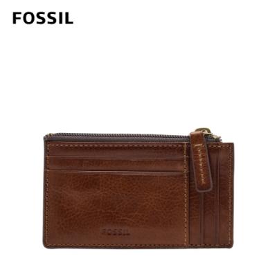 FOSSIL  Caine 真皮拉鍊卡夾-干邑色 ML4308222