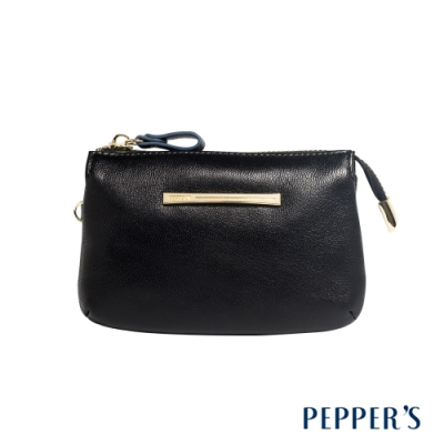 PEPPER S Ellie 羊皮三層零錢包 - 煙燻黑