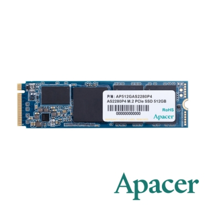 Apacer AS2280P4 512GB M.2 PCIe Gen3x4 SSD固態硬碟