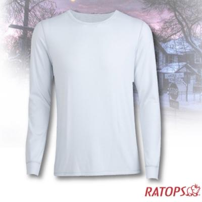 瑞多仕 男款 VILOFT 圓領彈性保暖衣_DB4640 象牙白色