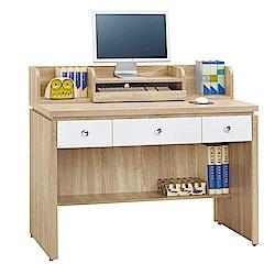 綠活居 莎薇4尺電腦桌(桌上架+三色)-118.8x57.3x100.5cm-免組