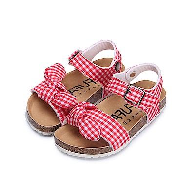 BuyGlasses 當格紋遇上迷彩兒童涼鞋-紅