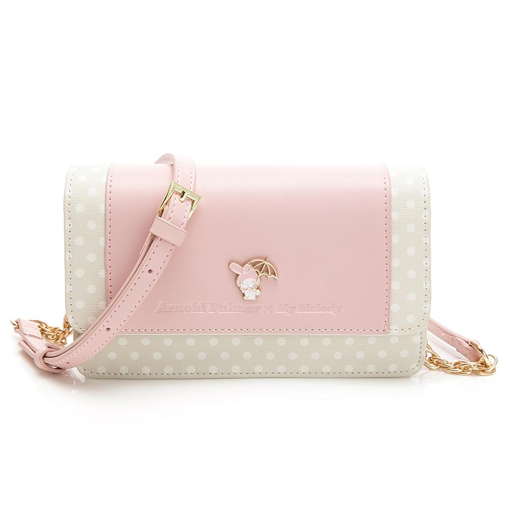 Melody聯名- 翻蓋斜背小包 泡泡派對系列-粉色