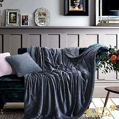 Betrise月夜  秋冬新品  延禧莫藍迪色系暖柔金貂絨雙面毯
