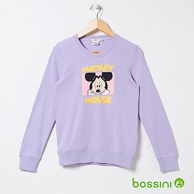 bossini女裝-米奇系列厚棉上衣04丁香紫