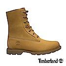 Timberland 女款小麥黃絨面皮革雪花刷毛防水靴