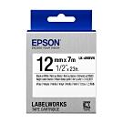 EPSON C53S654479 LK-4WBVN產業標籤帶耐久型(寬度12mm)白底黑字