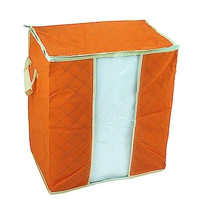 月陽49X43竹炭彩色透明視窗衣物收納袋整理箱(C65L)