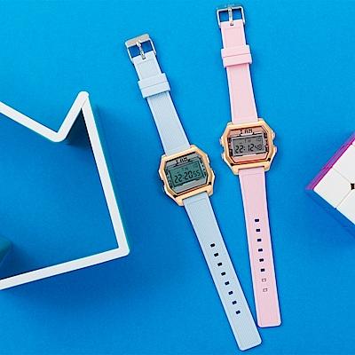 I AM 玩色新革命電子錶-玫瑰金殼裸色錶盤_小(IAM-003)37x40mm