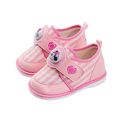 迪士尼 米妮 愛心造型 電燈嗶嗶鞋-粉
