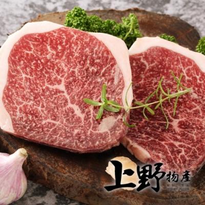 (滿額優惠)上野物產-日本和牛A5等級頂級菲力牛排 x8片組(100g/片)