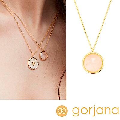 GORJANA OLIVIA 開運寶石項鍊 玫瑰粉玉項鍊 金色 愛情滋養平靜