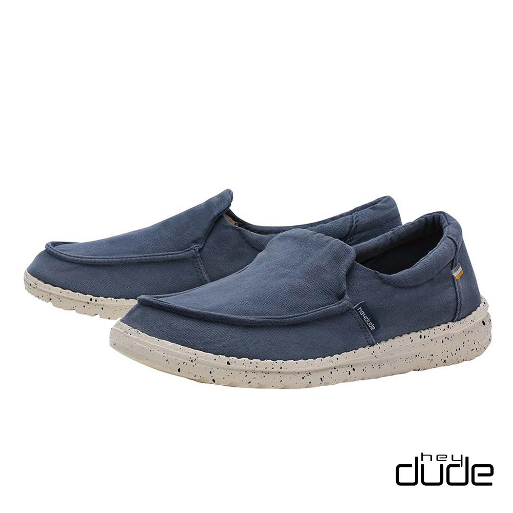 HEY DUDE(女) - 輕鬆直套親膚柔棉輕量休閒鞋 - 漫步藍