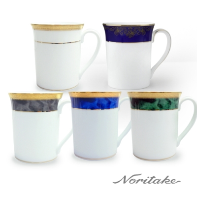 【Noritake】藍色樂章咖啡對杯禮盒組/皇家馬克杯禮盒組 任選