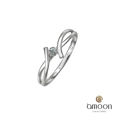 amoon 浪漫艾菲爾系列 邂逅 K金鑽石戒指