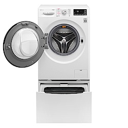 LG樂金 10.5KG+2KG TWINWash 變頻滾筒洗衣機 WD-S105CW 冰磁白