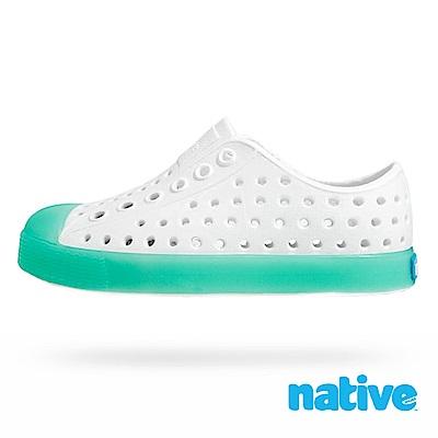native 大童鞋 JEFFERSON 小奶油頭鞋-薄荷綠x夜光