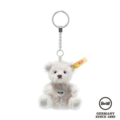 STEIFF德國金耳釦泰迪熊 Mini Teddy Bear Keyring Pendant 白色 (經典羊毛吊飾) 8cm