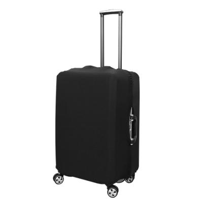 行李箱彈性防塵保護套S/M/L黑色3入組(20-28吋適用)